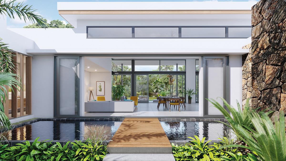 Villa Mangrove du programme AKASHA à Tamarin sur l'île Maurice