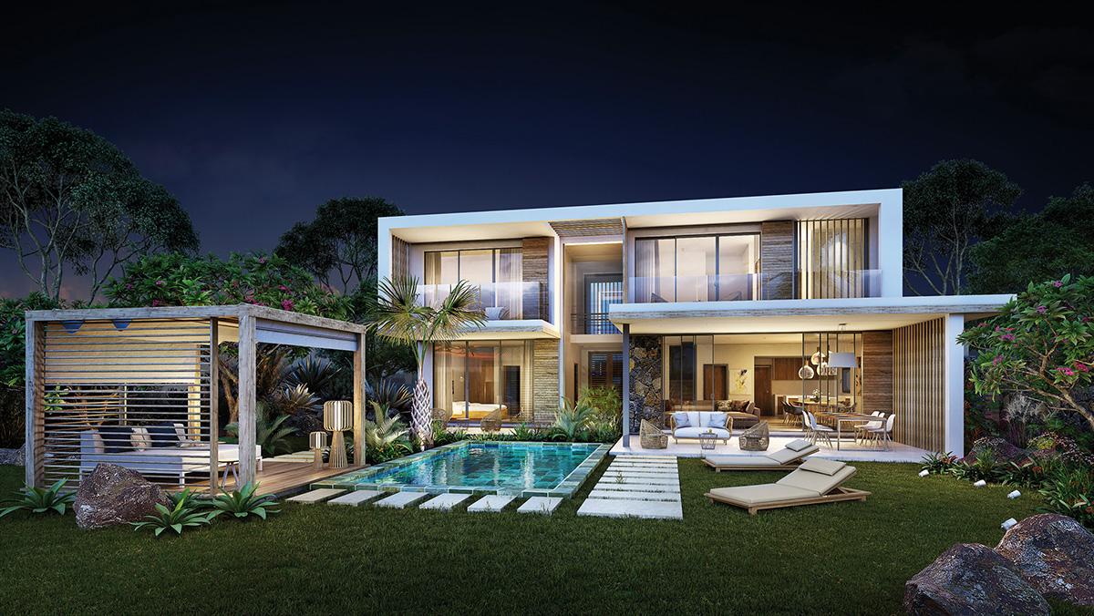 Villa Village B du programme AKASHA à Tamarin sur l'île Maurice