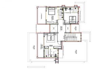 plan de l'atage villa Village B