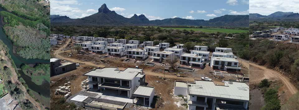 Évolution du chantier Akasha Villa septembre 2019