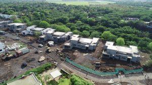 Avancement du chantier Villa Montagne en décembre 2019